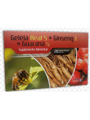 Geleia Real 5 +Ginseng 1+ Guaraná 1/2